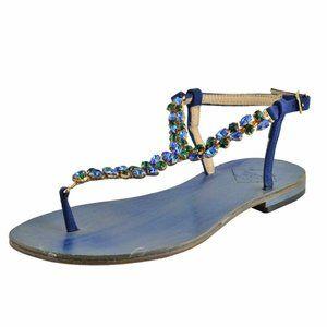 """Emanuela Caruso """"Capri"""" Women's Flat Sandals Shoes"""